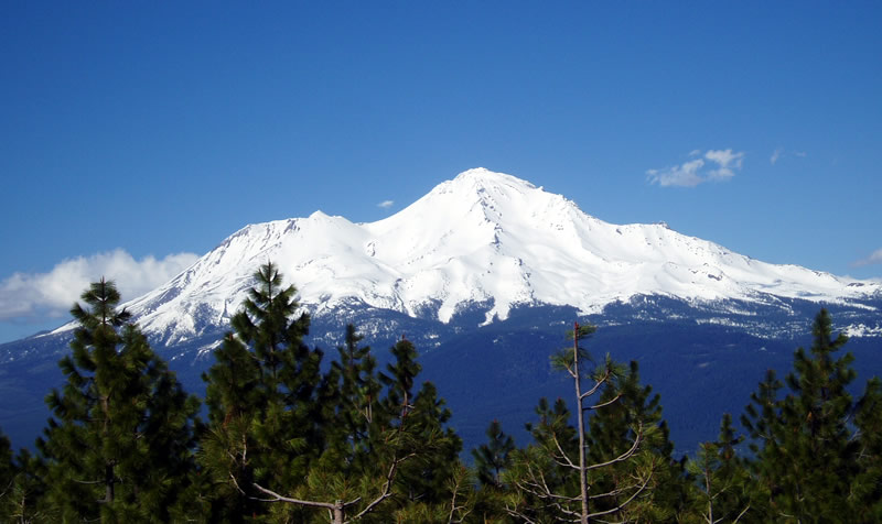 Mount Shasta with snow